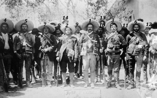Muhammad and the elite of his companions in their reincarnation at the time of the Mexican Revolution.