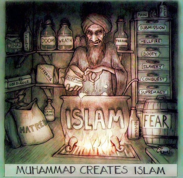 Muhammad drew on the energy of the dark side of human nature to advance his cause. His Koran is a dangerous concoction of hatred and contempt for people who rejected him. His violence toward them set the example that his followers have emulated for 1,400 years.