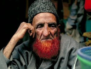 ORANGE BEARD: Muhammad's sunna including dyeing his beard with henna so that it appeared orange. Many fundamentalist Muslims will dye their beards because that's what Muhammad did.